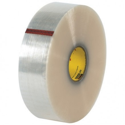 "3M 372 Carton Sealing Tape, Clear, 3"" x 1000 yds., 2.2 Mil Thick"