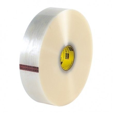 "Clear Machine Carton Sealing Tape,, 3"" x 1000 yds., 1.9 Mil Thick"