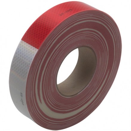 "3M 983 Red/White Reflective Tape, 2"" x 150"