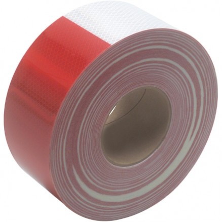 "3M 983 Red/White Reflective Tape, 3"" x 150"