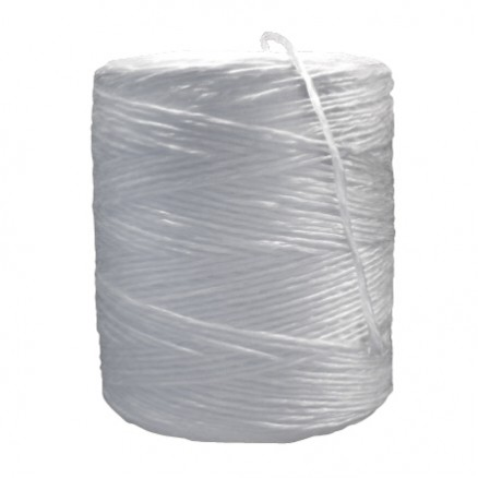 Polypropylene Twine, White, 1-Ply, 110 lb Tensile Strength