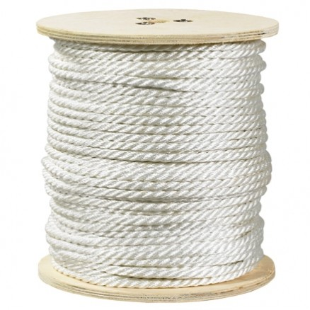 """Twisted Polyester Rope - 3/8"""", White"""