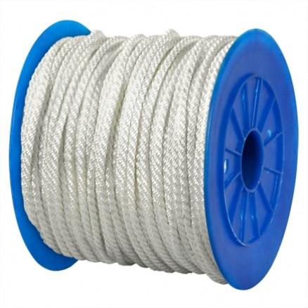 """Twisted Nylon Rope - 1/4"""", White"""