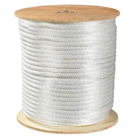 "Solid Braided Nylon Rope - 5/8"", White"