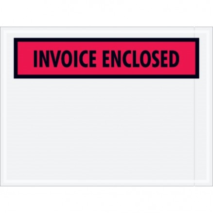 """Invoice Enclosed"" Envelopes, 4 1/2 x 6"""