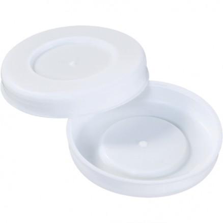 "Plastic End Caps For Tubes, 2 1/2"", White"