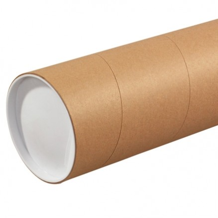 """Mailing Tubes, Jumbo, Round, Kraft, 5 x 72"""""""
