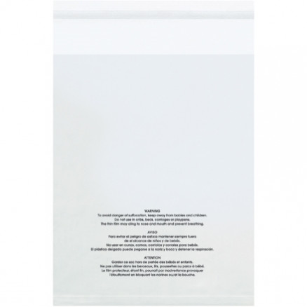 """Resealable Suffocation Warning Bags, 18 x 24"""", 1.5 Mil"""