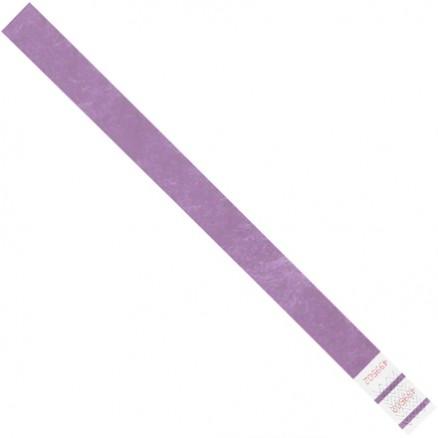 "Purple Tyvek® Wristbands, 3/4 x 10"""