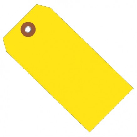 "Yellow Plastic Tags #8 - 6 1/4 x 3 1/8"""