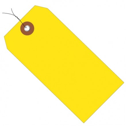 """Pre-Wired Yellow Plastic Tags #8 - 6 1/4 x 3 1/8"""""""