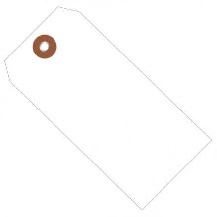 """White Plastic Tags #8 - 6 1/4 x 3 1/8"""""""