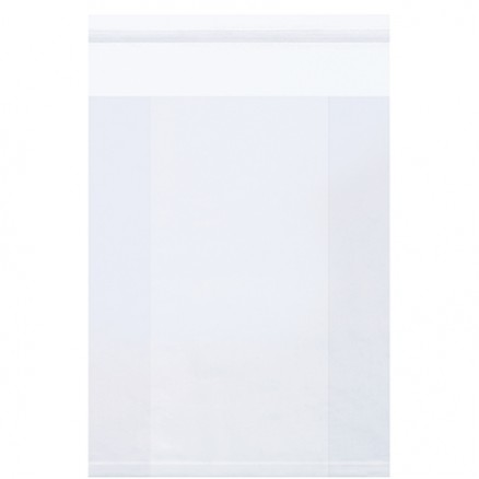 "Resealable Poly Bags, 9 x 4 x 12"", 2 Mil, Gusseted"