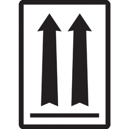 """Black Arrow Labels, 3 x 4 1/4"""""""