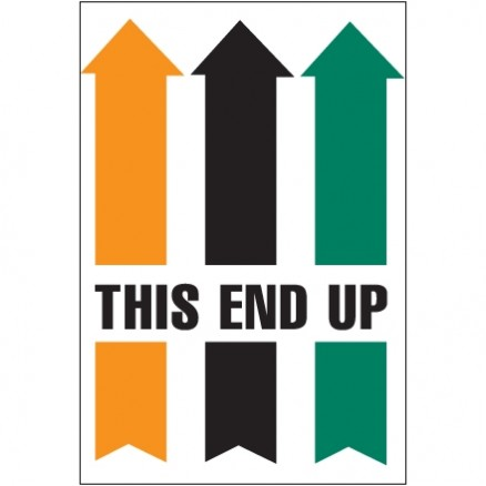""" This End Up"" Arrow Labels, 4 x 6"""