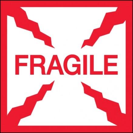 """ Fragile"" Labels, 4 x 4"""