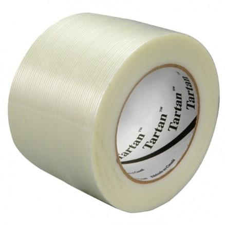 "3M 8934 Clear Strapping Tape, 3"" x 60 yds., 4.0 Mil Thick"