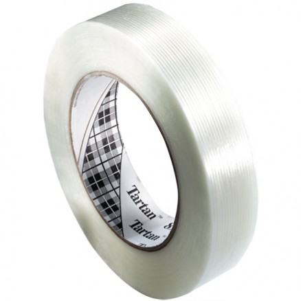 "3M 8934 Clear Strapping Tape, 3/8"" x 60 yds., 4.0 Mil Thick"