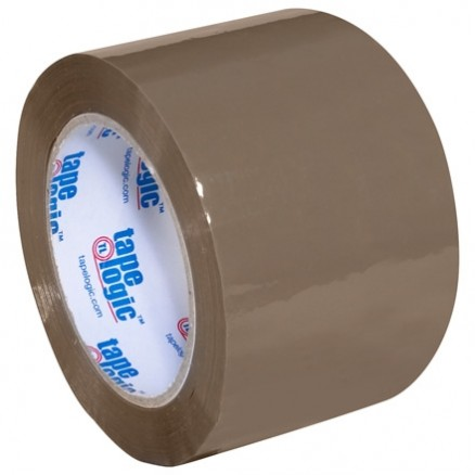 "Tan Carton Sealing Tape, Industrial, 3"" x 110 yds., 1.8 Mil Thick"