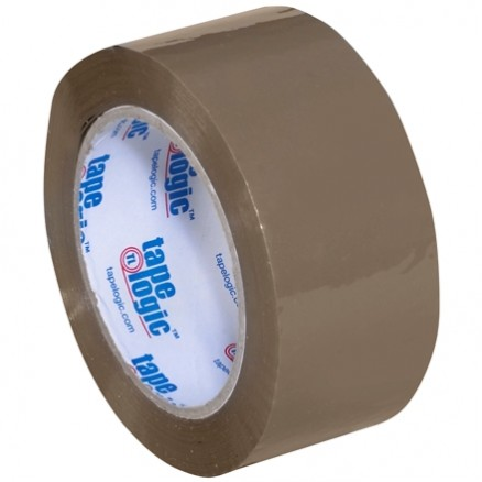 "Tan Carton Sealing Tape, Industrial, 2"" x 110 yds., 1.8 Mil Thick"
