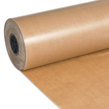 "Waxed Kraft Paper Rolls, 18"" Wide - 30 lb."
