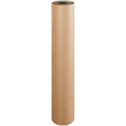 "Poly Coated Kraft Paper Rolls, 48"" Wide - 50 lb."