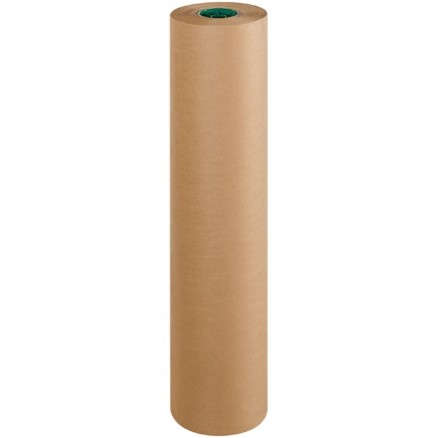 "Poly Coated Kraft Paper Rolls, 36"" Wide - 50 lb."
