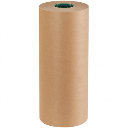 "Poly Coated Kraft Paper Rolls, 18"" Wide - 50 lb."