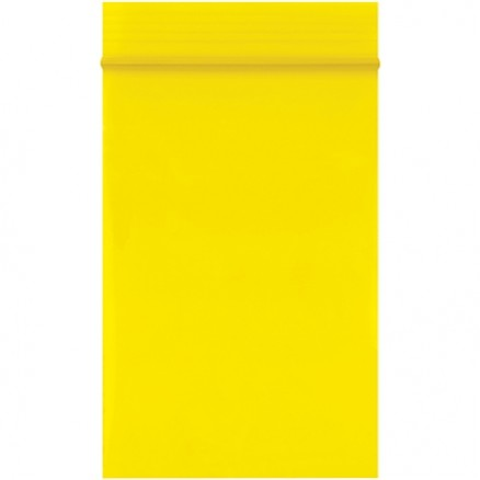 "Reclosable Poly Bags, 2 x 3"", 2 Mil, Yellow"