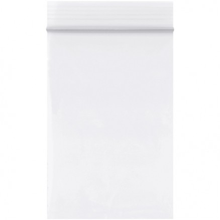 "Reclosable Poly Bags, 2 x 3"", 2 Mil, White"