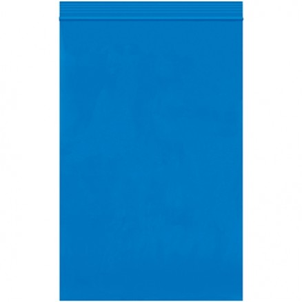 "Reclosable Poly Bags, 6 x 9"", 2 Mil, Blue"