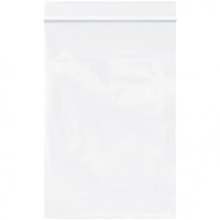 "Reclosable Poly Bags, 4 x 6"", 2 Mil, White"