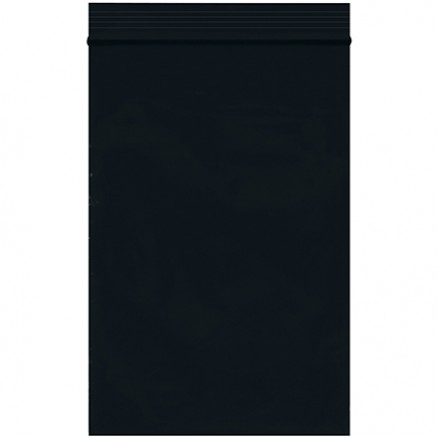 "Reclosable Poly Bags, 4 x 6"", 2 Mil, Black"