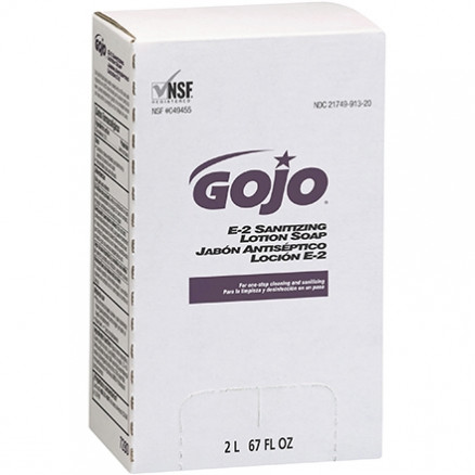 GOJO® E-2 Sanitizing Lotion Soap Refill Box - 2,000 ml