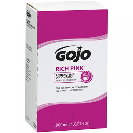 GOJO® Rich Pink™ Antibacterial Lotion Soap Refill Box - 2,000 ml