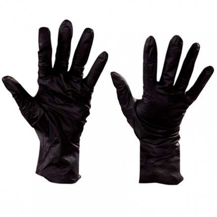 Black Nitrile Gloves - 6 Mil - Medium