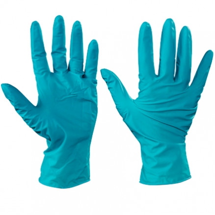 Ansell® Touch N Tuff® Green Nitrile Gloves - 5 Mil - Large