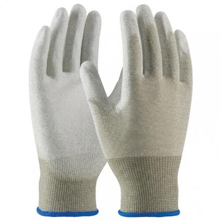 ESD Nylon Gloves - Palm Coated, Large
