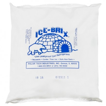 Ice-Brix™ 16 oz. Cold Packs - 6 1/4 X 6 X 1""
