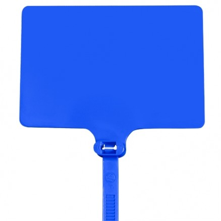 "Cable Ties, Extra Large, Blue Identification - 6"", 120#"