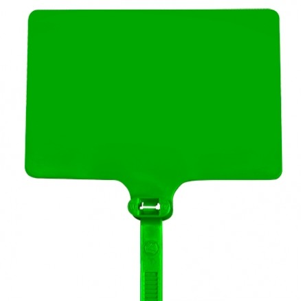 "Cable Ties, Extra Large, Green Identification - 6"", 120#"