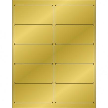 """Gold Foil Laser Labels, 4 x 2"""""""
