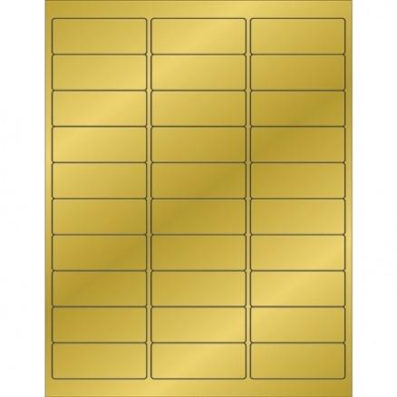 """Gold Foil Laser Labels, 2 5/8 x 1"""""""