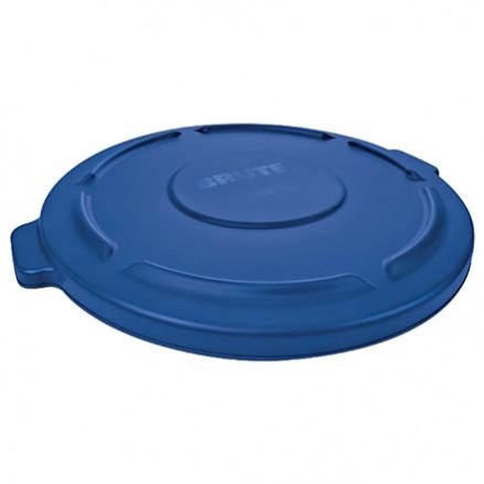 Rubbermaid® Brute® Trash Can Flat Lid - 55 Gallon, Blue