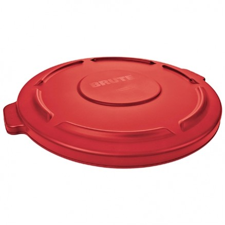 Rubbermaid® Brute® Trash Can Flat Lid - 55 Gallon, Red