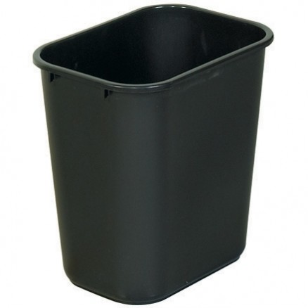 Rubbermaid® Office Trash Can - 7 Gallon, Black