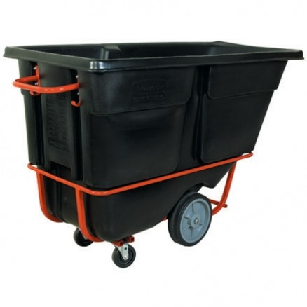 Rubbermaid® Heavy-Duty Tilt Truck - 1 Cubic Yard, Black