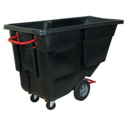 Rubbermaid® Utility Grade Tilt Truck - 1 Cubic Yard, Black