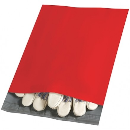 """Poly Mailers, Red, 10 x 13"""""""