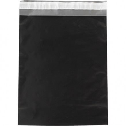 """Poly Mailers, Black, 14 1/2 x 19"""""""